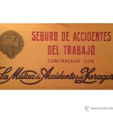 Carteles: ANTIGUO CARTÓN DE MUTUA DE ACCIDENTES DE TRABAJO, ZARAGOZA.. Lote 54565954