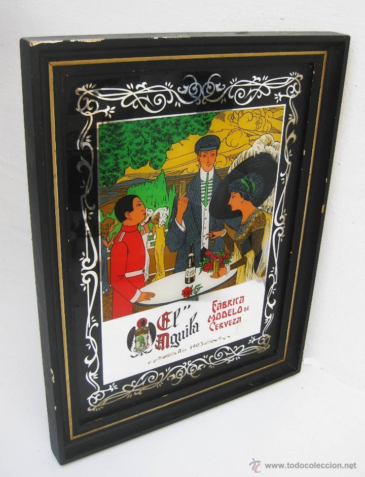 espejo litografiado antiguo marco madera cervez - Comprar Carteles ...