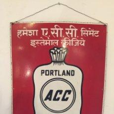 Plakate - Placa publicitaria de cementos Portland. Años 40. - 54992016