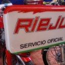 Carteles: RIEJU LETRERO SEVICIO OFICIAL 72.5X42 CMS. Lote 132863137