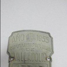 Carteles: CHAPA. ARBITRIO SOBRE RODAJE. DIPUTACION PROVINCIAL DE VALLADOLID. AÑO 1955. Lote 55918485