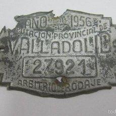 Carteles: CHAPA. ARBITRIO SOBRE RODAJE. DIPUTACION PROVINCIAL DE VALLADOLID. AÑO 1956.. Lote 55918512