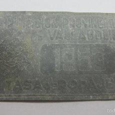 Carteles: CHAPA. ARBITRIO SOBRE RODAJE. DIPUTACION PROVINCIAL DE VALLADOLID. AÑO 1953. Lote 55918648