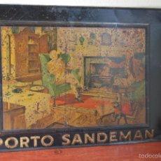 Carteles: ANTIGUA CHAPA LITOGRAFIADA PUBLICIDAD SANDEMAN PORTO - VINO DE OPORTO - CARTEL - AÑOS 20-30. Lote 56028180