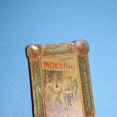 Carteles: CENICERO PUBLICIDAD EN METAL DE 12,5 CM X 8,5 CM LICOR MOKAINE. Lote 56098632