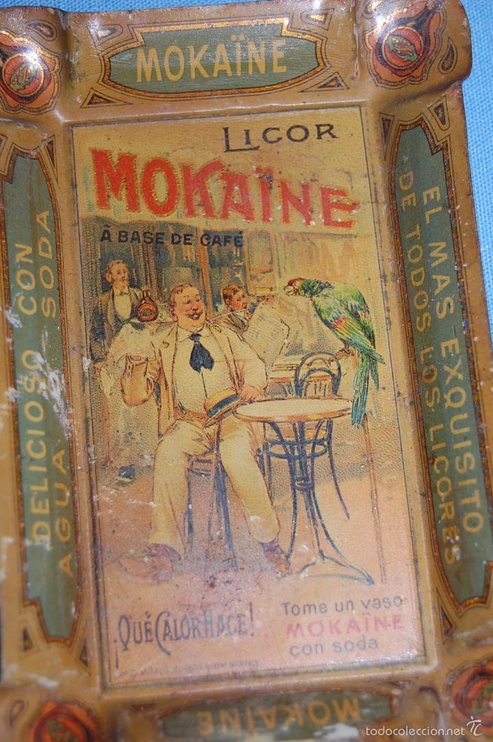 Carteles: CENICERO PUBLICIDAD EN METAL DE 12,5 CM X 8,5 CM LICOR MOKAINE - Foto 2 - 56098632