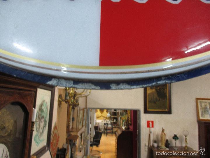Carteles: Gran Cartel Publicitario antiguo -Cerveza Kronenbourg -cartel luminoso neon -tipo bandera -dos caras - Foto 6 - 56464391