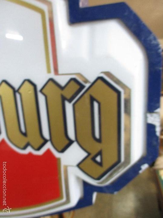 Carteles: Gran Cartel Publicitario antiguo -Cerveza Kronenbourg -cartel luminoso neon -tipo bandera -dos caras - Foto 8 - 56464391