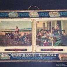 Carteles: ANTIGUO E IMPRESIONANTE CARTEL EN CHAPA LITOGRAFIADA EN RELIEVE - AZAFRAN HIJO DE MANUEL ALBEROLA - . Lote 57047559