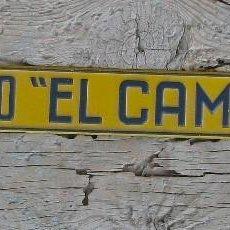 Carteles: CHAPA PUBLICIDAD DE CONDIMENTO EL CAMPANAR NOVELDA. Lote 57071431