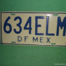 Carteles: RARA MATRICULA PLACA MEXICO DF ANTIGUO COCHE DISTRITO FEDERAL ORIGINAL COLECCION. Lote 57475119