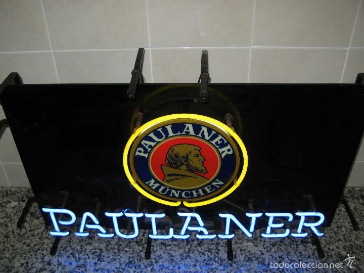 Carteles: Cartel Luminoso de Neón de Cerveza Paulaner München Munich. Años '90 - Foto 2 - 99168079