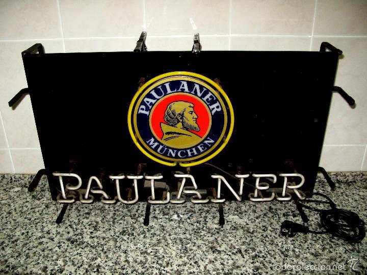 Carteles: Cartel Luminoso de Neón de Cerveza Paulaner München Munich. Años '90 - Foto 3 - 99168079