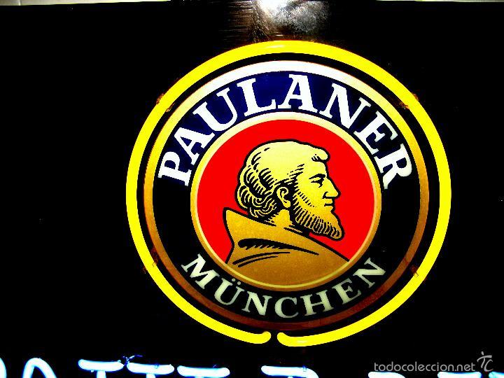 Carteles: Cartel Luminoso de Neón de Cerveza Paulaner München Munich. Años '90 - Foto 7 - 99168079