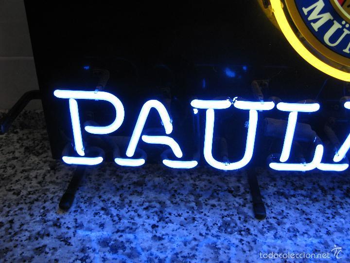Carteles: Cartel Luminoso de Neón de Cerveza Paulaner München Munich. Años '90 - Foto 9 - 99168079