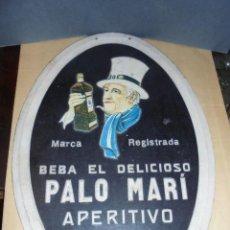 Carteles: IBIZA - BEBIDAS - ANTIGUO CARTON PUBLICITARIO , BEBA EL DELICIOSO PALO MARI APERITIVO SIN RIVAL , . Lote 57954815