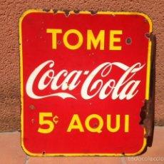 Carteles: CARTEL CHAPA PUBLICIDAD COCA COLA ORIGINAL ANTIGUO VINTAGE. Lote 58098037