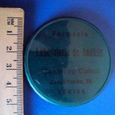 Carteles: (PUB-1702)LERIDA - ESPEJO PUBLICIDAD FARMACIA Y LABORATORIO DE CASIMIRO CANUT. Lote 58109827