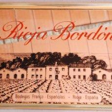 Carteles: CUADRO ESPEJO PUBLICIDAD RIOJA BORDON - BODEGAS FRANCO ESPAÑOLAS. Lote 58501774