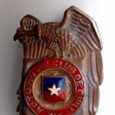 Carteles: CHAPA ANTIGUA DEL AUTOMOVIL CLUB DE CHILE (12CMS X 7CMS.). Lote 58507142