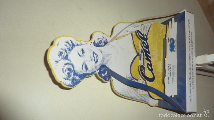 Carteles: bonito expositor cartel publicidad tabaco camel carton duro pin up 100 aniversario 40 / 30 / 10 cm - Foto 2 - 58542369