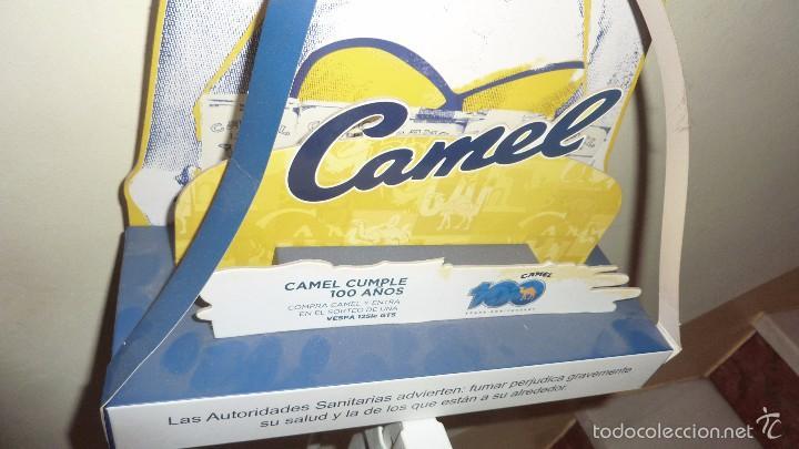 Carteles: bonito expositor cartel publicidad tabaco camel carton duro pin up 100 aniversario 40 / 30 / 10 cm - Foto 3 - 58542369