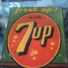 Carteles: CHAPA VINTAGE WHIT 7UP. Lote 58600145