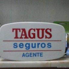 Carteles: CARTEL LUMINOSO DE SEGUROS TAGUS. Lote 58648437