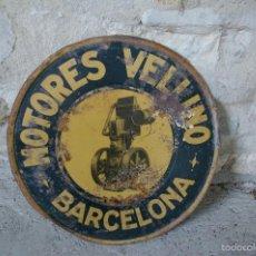 Carteles: CHAPA-BANDEROLA DE G. DE ANDREIS, MOTORES ESTACIONARIOS . Lote 58689837