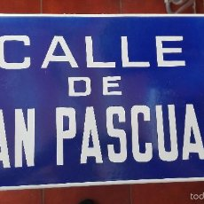 Carteles - CHAPA METALICA ESMALTADA CALLE SAN PASCUAL MEDIDA 45X25CM - 59614135