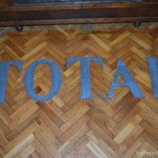 Carteles: LETRAS DE METACRILATO - CARTEL - LETRERO - TOTAL - AÑOS 90. Lote 110178072