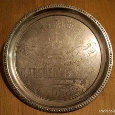 Carteles: ANTIGUA BANDEJA METALICA CON PUBLICIDAD LA ESPAÑOLA FABRICA DE CHOCOLATE Y DULCES ARGUELLES MADRID. Lote 60388843