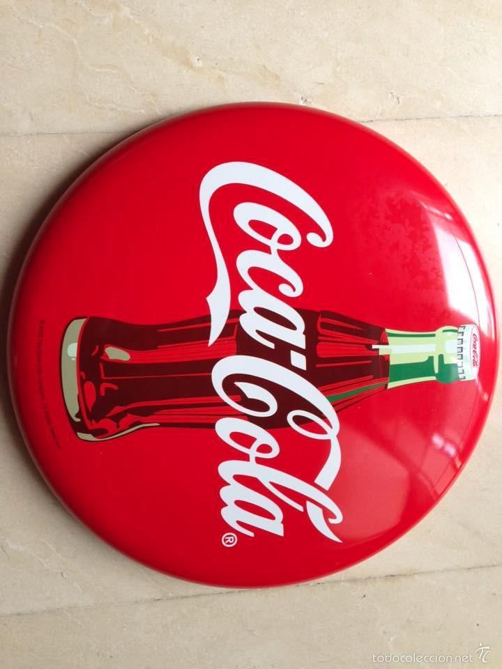 Cartel chapa coca cola original vintage comprar carteles - Chapa coca cola pared ...