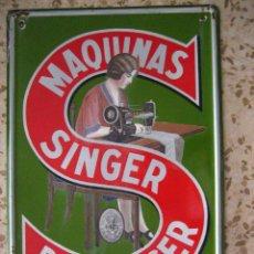 Plakate - MAGNIFICA CHAPA ESMALTADA DE MAQUINA DE COSER SINGER MEDIDAS 6O X 4O - 60532499