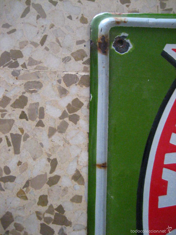 Carteles: MAGNIFICA CHAPA ESMALTADA DE MAQUINA DE COSER SINGER MEDIDAS 6O X 4O - Foto 3 - 60532499