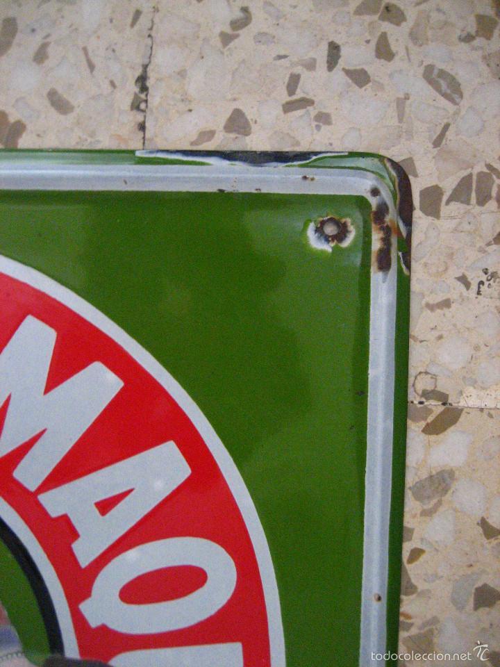 Carteles: MAGNIFICA CHAPA ESMALTADA DE MAQUINA DE COSER SINGER MEDIDAS 6O X 4O - Foto 4 - 60532499