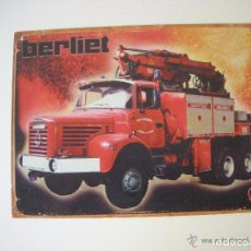 Carteles: ORIGINAL CARTEL METÁLICO, CAMION BERLIET. Lote 61800332