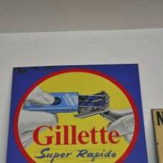 Carteles: CHAPA PLACA GILLETTE. Lote 69658787