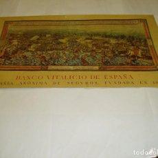 Carteles: ALMANAQUE DEL BANCO VITALICIO DE ESPAÑA. LITOGRAFIA DE LA BATALLA DE LOS POZOS DE TUNEZ. Lote 124551188