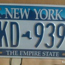 Carteles: PLACA DE MATRICULA AMERICANA- NEW YORK. Lote 133294965