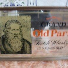Carteles: ESPEJO WHISKY GRAND OLD PARR 53X33 CMS LIT.ALSO SEVILLA. Lote 87481532