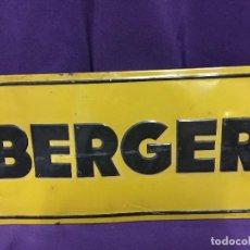 Carteles: BERGER CARTEL METALICO GOTTARDO DE ANDREIS. Lote 67043350