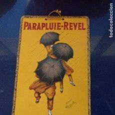 Carteles: GENIAL CARTEL PARAPLUIE REVEL CLASICO CAPPIELLO TROQUELADO PUBLICIDAD PARAGUAS AÑOS 30 ORIGINAL. Lote 67075821