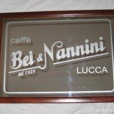 Carteles: CUADRO ESPEJO CAFÉ BEI & NANNINI. Lote 68228789