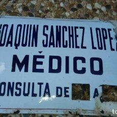 Carteles: PLACA ESMALTADA EN PORCELANA DE MEDICO. Lote 68757917