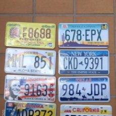 Cartazes: LOTE 8 MATRICULAS PLACAS DE METAL DE ESTADOS UNIDOS FLORIDA TEXAS ILLINOIS CALIFORNIA. Lote 191116076
