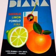 Carteles - Preciosa chapa refrescos Diana - 71023581