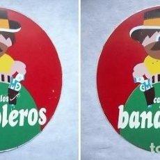 Carteles: CHAPA METALICA PUBLICIDAD A DOBLE CARA DE CARAMELOS BANDOLEROS . VINTAGE. Lote 71847615