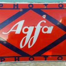 Plakate - Chapa - placa esmaltada abombada Agfa - 73795125
