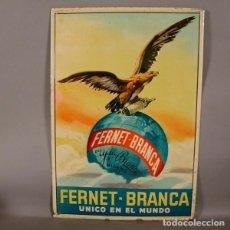 Carteles: MUY RARA. CHAPA ORIGINAL LITOGRAFÍADA DE FERNET BRANCA - UNICO EN EL MUNDO. ESPANA 1900 - 1910. Lote 73949443